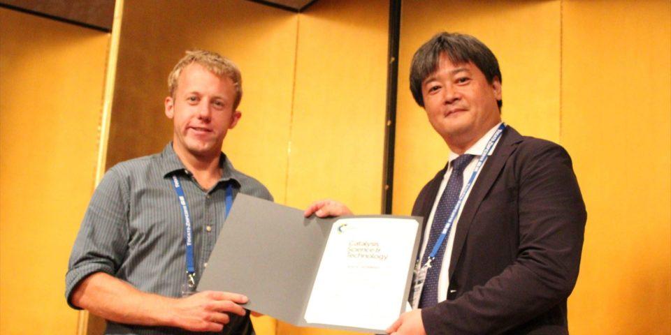 Postdoctoral scholar Joel Schmidt won a Catalysis Science